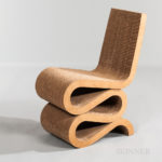 "Frank Gehry for Vitra ""Wiggle"" Chair (Lot 1254, Estimate: $700-900)"
