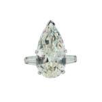Platinum and Diamond Solitaire, 7.87 cts. (Lot 190, Estimate: $18,000-22,000)