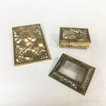Three Tiffany Studios Grapevine-pattern Dore Bronze Desk Items (Lot 1043, Estimate: $200-300)