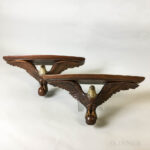 Pair of Carved and Painted Walnut Eagle Brackets (Lot 1121, Estimate: $200-400)