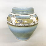 Contemporary Arts & Crafts-style Tortoise and the Hare Vase (Lot 1181, Estimate: $20-200)