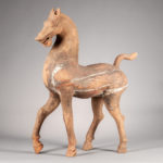 Large Pottery Model of a Prancing Horse, China, Han dynasty (Lot 246, Estimate: $15,000-20,000)