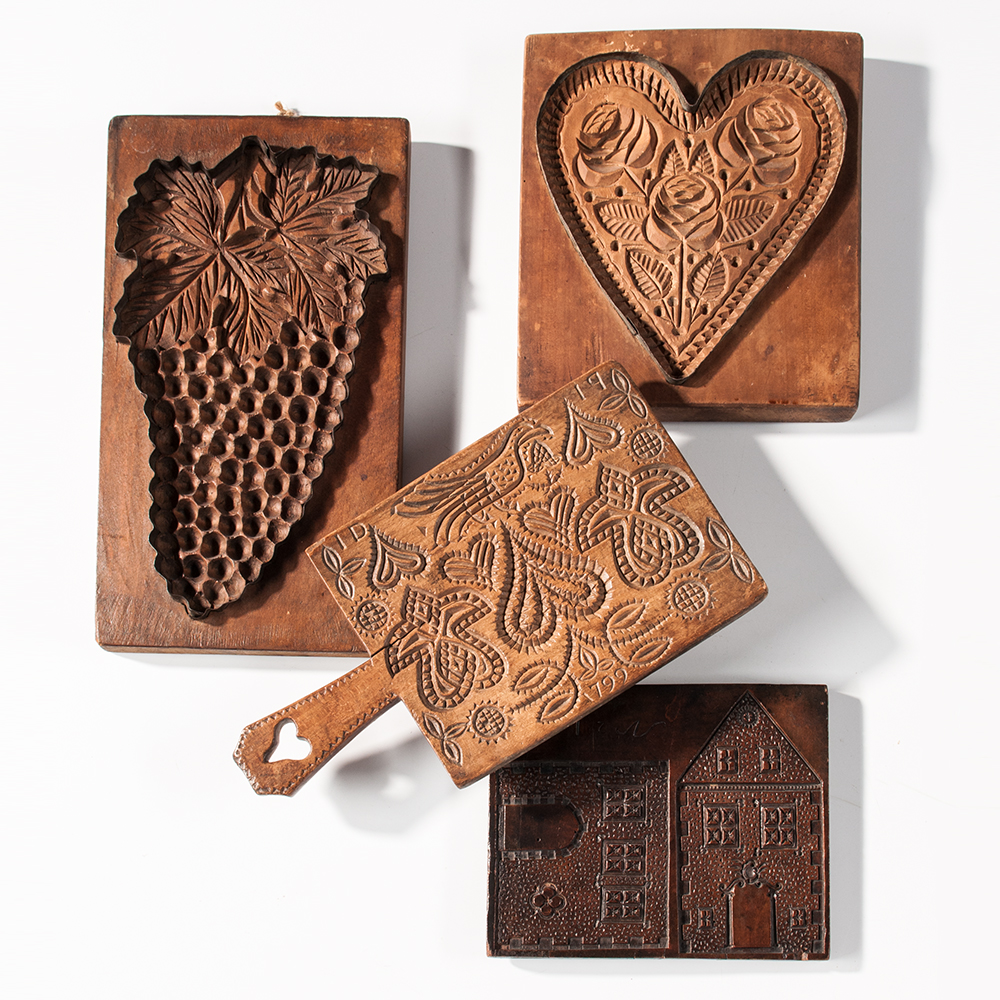 Carved House and Cookie Boards, Europe,  early 19th century