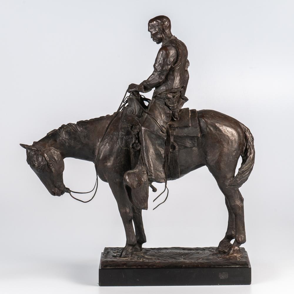 Harry Jackson (American, 1924-2011), Cowboys Meditation (Lot 302, Estimate: $8,000-12,000)
