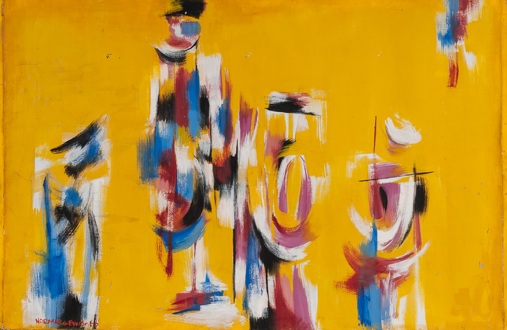 Norman Wilfred Lewis (American, 1909-1979), Abstract (Lot 485, Estimate: $8,000-10,000)