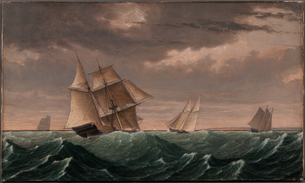 Fitz Henry Lane (Massachusetts, 1804-1865), <i>Vessel Returning from Surinam</i> (Lot 241, Estimate: $80,000-120,000)