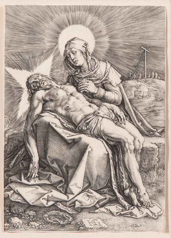 Hendrik Goltzius (Dutch, 1558-1617), <i>Pietà</i> (Lot 1, Estimate: $600-800)