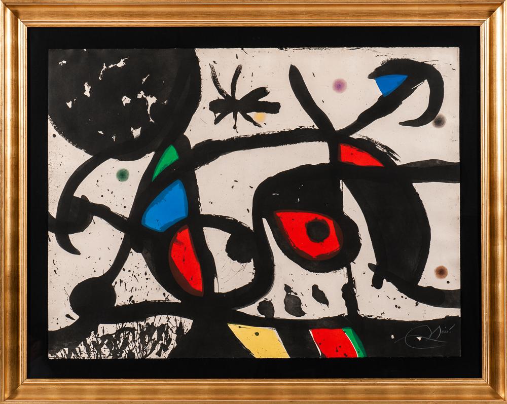 Joan Miró (Spanish, 1893-1983), <i>Charivari</i> (Lot 89, Estimate: $12,000-18,000)