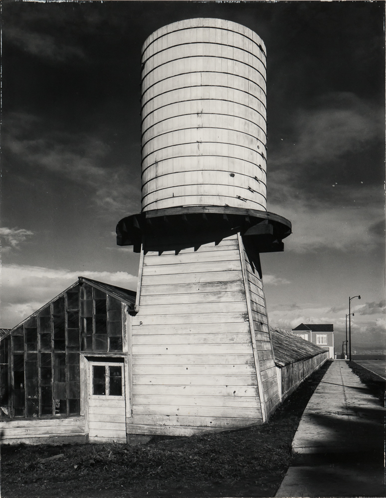 Ansel Adams (American, 1902-1984), <i>Old Water Tower, San Francisco</i> (Lot 120, Estimate: $4,000-6,000)
