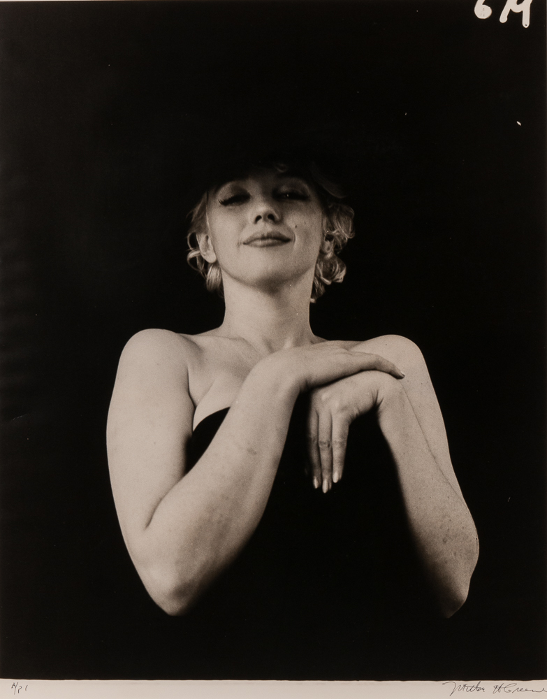Milton H. Greene (American, 1922-1985), <i>Marilyn Monroe, from the Black Sitting</i> (Lot 132, Estimate: $2,500-3,500)