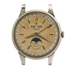 """Rare Rolex Stainless Steel Reference 8171 """"Padellone"""" Triple Calendar Wristwatch (Estimate: $100,000-150,000)"""