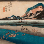 Utagawa Hiroshige (1797-1858), <i>Odawara: The Sakawa River</i>, 1833-34, (Lot 1062, Estimate: $700-900)