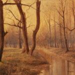Attributed to Aaron Draper Shattuck (American, 1832-1928) <i>Autumn Stream</i>. (Lot 1000, Estimate: $2,500-3,500)