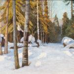 Walter Launt Palmer (American, 1854-1932) <i>Winter Woodlands</i>. (Lot 1001, Estimate: $1,000-1,500)