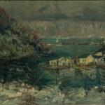 Arthur Clifton Goodwin (American, 1866-1929) <i>Spuyten Duyvil, Upper New York, Early Morn</i>. (Lot 1100, Estimate: $2,500-3,500)