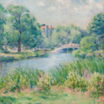 Attributed to Mary Brewster Hazelton (American, 1868-1953) <i>The Fenway</i>. (Lot 1190, Estimate: $1,000-1,500)