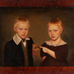 Milton Hopkins Portrait of Rachel and Reason Hand, Wooster, Ohio (Estimate: $4,000-8,000)