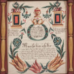 Pennsylvania Watercolor Fraktur, J. George Busyaeger, Westmorland County, 1832 (Estimate: $2,500-3,500)