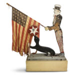 Large Carved and Paint-decorated Wood Uncle Sam and Seal Folk Art (Lot 14, Estimate: $600-800)