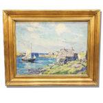 Charles Henry Ebert (American, 1873-1959) Harbor Scene (Lot 118, Estimate: $100-150)
