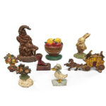 Eight Polychrome Cast Iron Doorstops (Lot 433, Estimate: $300-500)