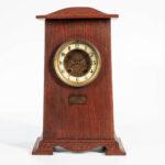 Oak Arts & Crafts Presentation Mantel Clock (Lot 1025, Estimate: $200-400)