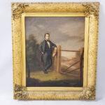 Nahum Ball Onthank (Massachusetts, 1823-1888) Portrait of James Monroe Scofield (Lot 1404, Estimate: $600-800)