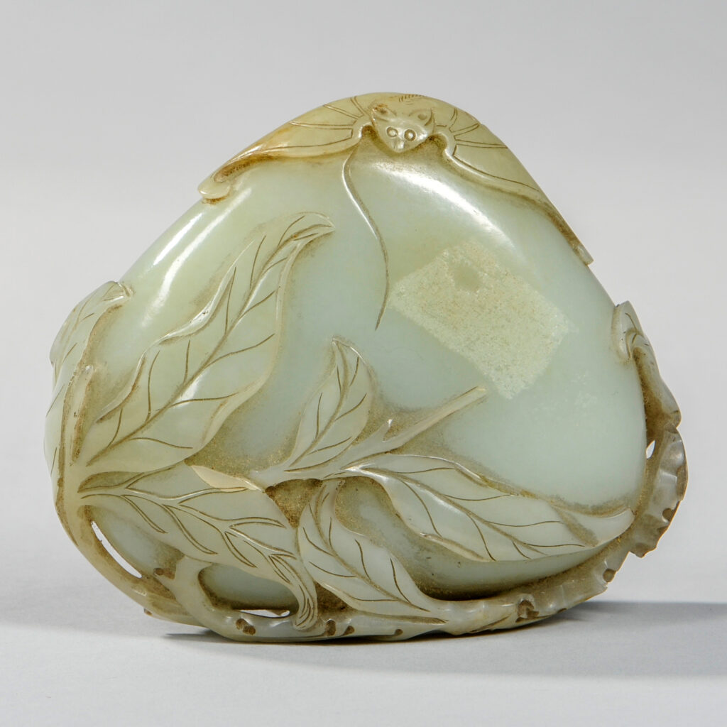 Amazing Pale-Green-Almost-White Old Nephrite Jade Chinese Carving