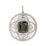 Edwardian Alexandrite and Diamond Pendant (Lot 25, Estimate: $10,000-15,000)