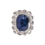 Kashmir Sapphire Ring, 19.40 cts. (Lot 246, Estimate: $150,000-200,000)