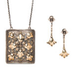 Arts and Crafts Pendant and Earrings, Edward Oakes (Lot 1045, Estimate: $800-1,200)