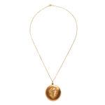 Art Nouveau 14kt Gold, Enamel, and Diamond Locket (Lot 1048, Estimate: $600-800)