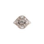 Art Deco Platinum and Diamond Ring (Lot 1065, Estimate: $600-800)