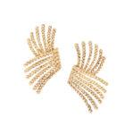 18kt Gold V-Rope Earrings, Schlumberger, Tiffany & Co. (Lot 1129, Estimate: $1,000-1,500)