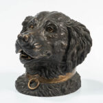 Cast Bronze Dog Head-form Tobacco Jar (Estimate: $400-600)