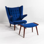 "Hans J. Wegner for AP Stolen ""Papa Bear"" Chair and Footstool (Lot 418, Estimate: $6,000-8,000)"