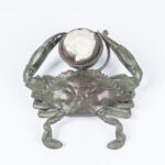 Tiffany Studios Bronze and Oyster Shell Crab-form Inkwell (Lot 1, Estimate: $10,000-15,000)