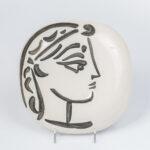 """Pablo Picasso (Spanish, 1881-1975) """"Profil de Jacqueline (Lot 332, Estimate: $5,000-7,000)"""