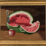 Watermelon Still Life Needlework Picture, early 20th century (Lot 1316, Estimate: $400-600)