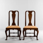 Pair of Walnut Side Chairs, Massachusetts, c. 1740-60 (Lot 1632, Estimate: $1,500-2,500)
