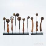 Ten Folk Art Jagging Wheels, 19th century (Lot 1522, Estimate: $800-1,200)