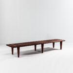 Hans J. Wegner for Johannes Hansen JH 574 Teak Slatted Bench (Lot 420, $5,000-7,000)