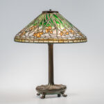 Tiffany Bronze Table Lamp with Daffodil Shade (Lot 30, Estimate: $20,000-30,000)