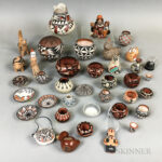 Large Group of Contemporary Southwest Pottery Birds and Vessels (Lot 1194, Estimate: $300-500)