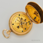 Tiffany & Company 18kt Gold Minute-Repeating Split-Second Chronograph, Switzerland, No. 112218, c. 1900.
