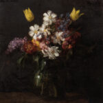 "Henri Fantin-Latour (French, 1836-1904), Fleurs, Signed ""Fantin"", dated ""Avril 1863"" (Estimate: $150,000-250,000)"