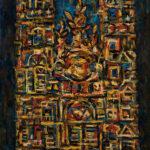 """René Portocarrero (Cuban, 1912-1985), Catedral, Signed and dated """"PORTOCARRERO/61"""" (Estimate: $15,000-25,000)"""