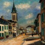 "Maurice Utrillo (French, 1883-1955), Rue de Province, Signed ""Maurice.Utrilllo.V."" (Estimate: $60,000-80,000)"