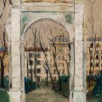 "Maurice Utrillo (French, 1883-1955), LArc de Parc Monceau, Signed ""Maurice.Utrillo.V."" (Estimate: $50,000-70,000)"