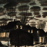 """Charles Ephraim Burchfield (American, 1893-1967), Night in Gardenville, Monogrammed and dated """"…/1937"""" (Estimate: $15,000-20,000)"""